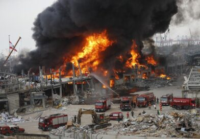 Beirut fire: Large blaze erupts in port a month after explosion